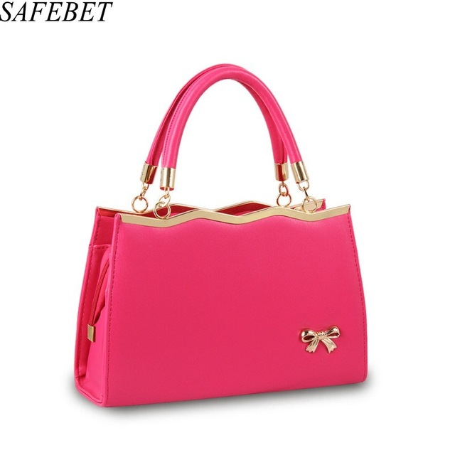 SAFEBET Brands Designer 2017 Ladies High Quality PU Leather Luxury Handbag Bowknot Fashion Handbag Messenger bag Shoulder bag safebet 2018 fashion shoulder bag high quality designer luxury women 100% genuine leather genuine leather waterproof handbag