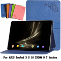 PU Case Leather Case Stand For ASUS ZenPad 3 S 10 Z500M 9.7 inch clamshell Case for tablet PU Protective Shell Z500M +gift