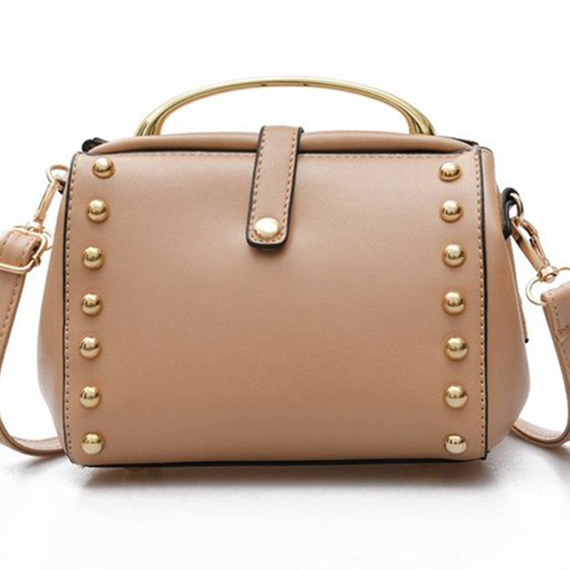 Women Bag Female Handbags Leather Shoulder Bag Rivet Crossbody High Quality Small Handbag Messenger Ladies Designer Brand Bags all match genuine leather women handbags designer tassel female shoulder bags rivet bag woman crossbody bag studs ladies