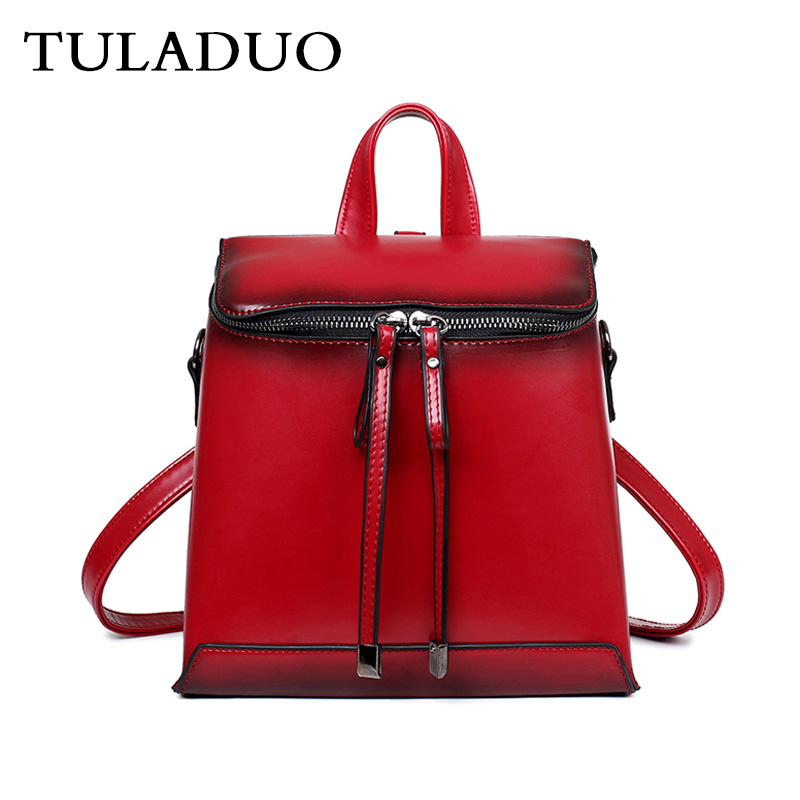 Tuladuo Women Small Backpack Leather For Girls Mochila Ladies Leather Backpacks For Teenage Girls Sac a Dos Female Pu Bagpack backpack for teenage girls brand women backpack new design leather backpacks female tassel back pack embossing mochila sac a dos