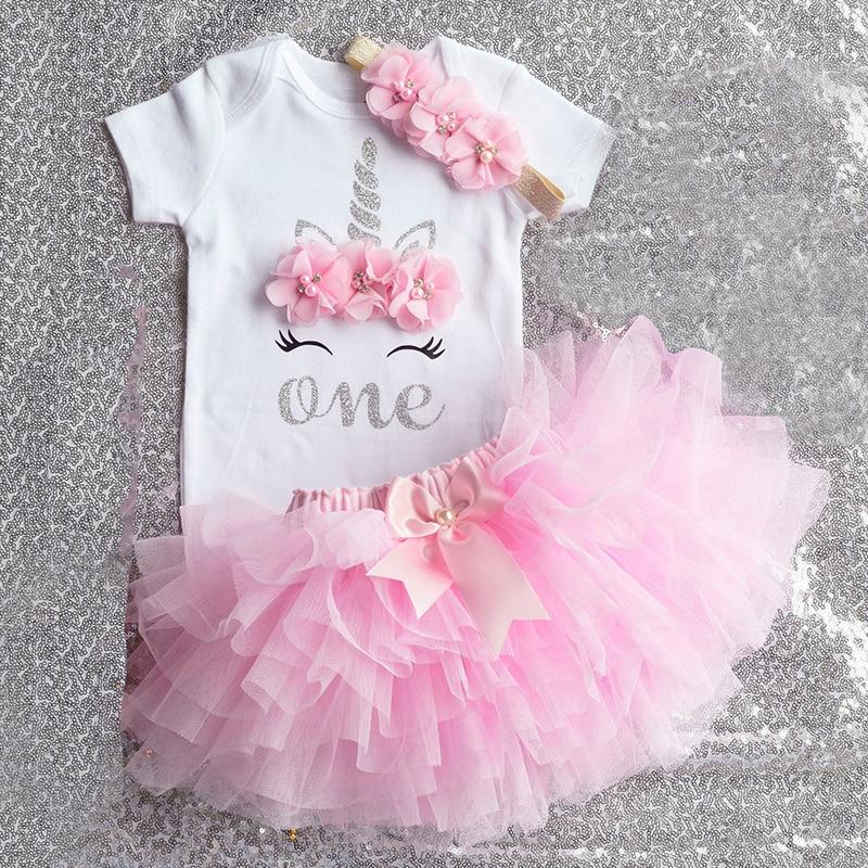 Летнее платье для маленьких девочек; Вечерние платья пачки с единорогом для девочек; Одежда для малышей; Одежда для первого дня рождения; infantil vestido|Комплекты одежды|   | АлиЭкспресс