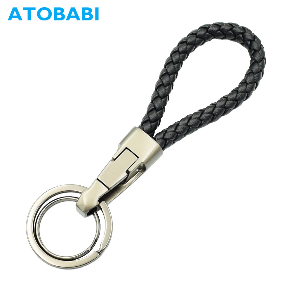 Luxury Fashion Car Key Rings Genuine Leather Remote <font><b>Keychain</b></font> Weave Keyring Men Women Key Chain for Land <font><b>Rover</b></font> <font><b>Range</b></font> <font><b>Rover</b></font> <font><b>Evoque</b></font> image