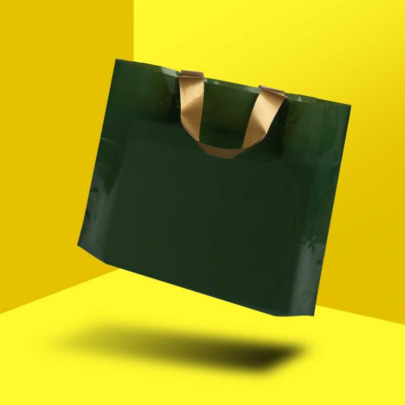 HARDIRON 50 PCS BIỂU TƯỢNG Tùy Chỉnh Màu Nhựa Thời Trang Mua Sắm Bao Với Tay Cầm Món Quà Hàng Hóa và Quần Áo Túi Bao Bì