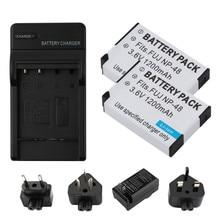 цены на RP 2pc NP-48 NP 48 NP48 3.7V 1010mAH Li-ion Bateria +  Charger + EU/US/UK/AU Plug For Fujifilm Fuji XQ1 XQ2 NP-48 Camera Battery