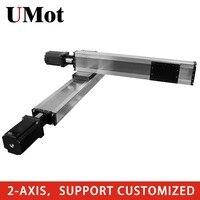 2 оси XY ЧПУ Линейный привод моторизованная линейная ступень таблицы слайд подвижная система возможно изготовление на заказ