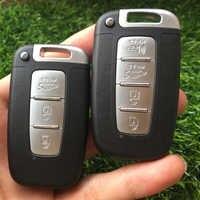 3 4 boutons voiture Smart porte-clés Shell pour Hyundai ix35 Sonata pour KIA Forte K5 K2 Sportage remplacement sans clé télécommande