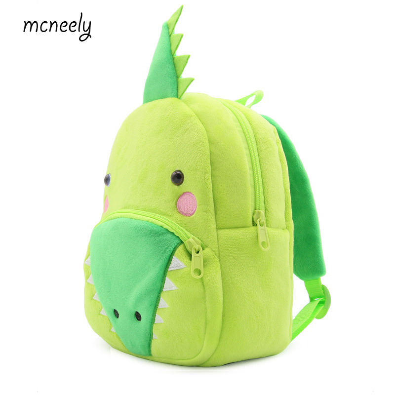 Cute Crocodile School Bag For Children Kids Cute Plush School Backpack Bags Backpacks & Bags