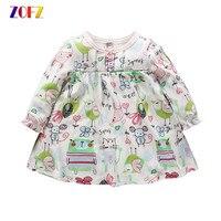 ZOFZ Menina Roupa Do Bebê 2017 Moda Bebê vestido kawaii dos desenhos animados Da Princesa Vestido de Algodão Meninas Do Bebê Recém-nascido Roupas de Verão Infantis