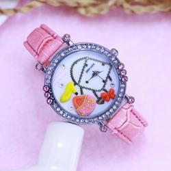 2018 Известный мода детская одежда для девочек милый 3D Мультфильм алмаз кожа кварцевые наручные часы молодых женщин личности электронные