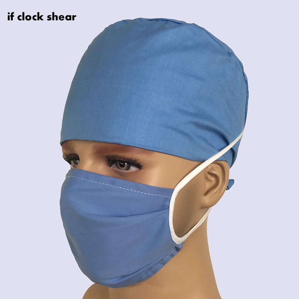 Hospital Medical Uniform Hat Nursing Scrubs Hat High Quality Breathable Cotton Doctor Pharmacy Dentistry Nurse Surgical Caps New