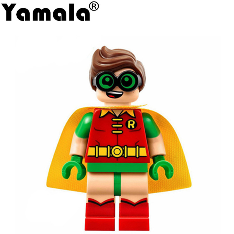 [Yamala] Single Super Heroes DIY Blocks X-man Avengers Justice League Model Building Blocks Compatible With Legoe Batman decool 7118 batman chariot super heroes of justice building block 518pcs diy educational toys for children compatible legoe