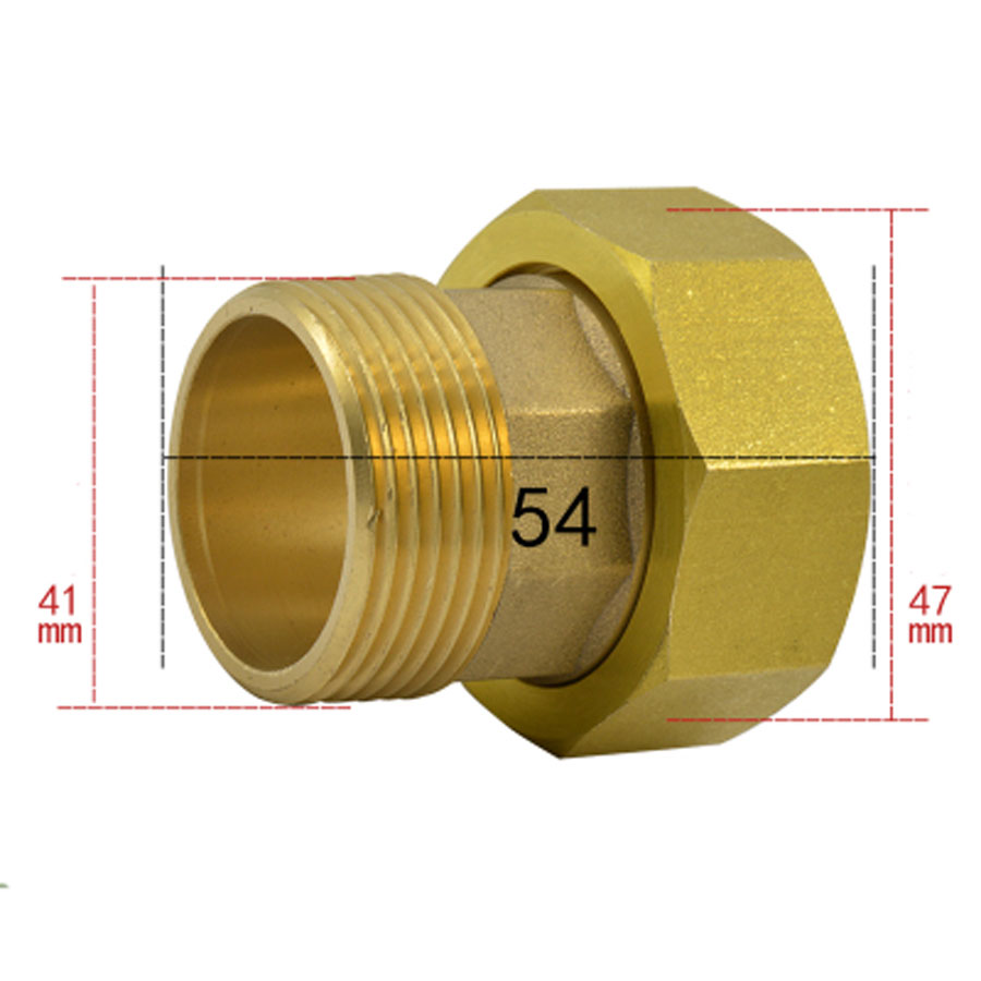 1-1/2 BSP Female To 1-1/4 BSP Male Hex Brass Union Pipe Fitting Water Gas Oil For Water Meter 2 1 2 male x 1 1 2 female thread reducer bushing m f pipe fitting ss 304 bsp page 2