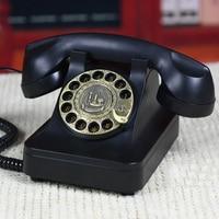Vintage Swivel Plate Rotary Dial retro Telephone revolve Telephones Landline Phone For Office Home Hotel mechanical ring