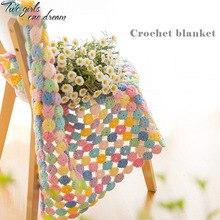Pastoralism Placemat Handmade Cushion Carpet Hand hooked Yoga Bolster Fashion Crochet Blanket 80*80cm Wedding Crochet Table Mat
