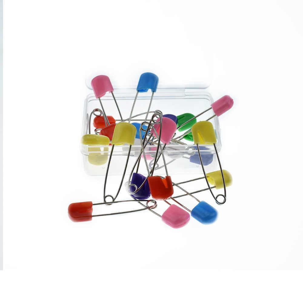 24 Pcs/set Permen Warna Pin Pengaman Temuan Aman Aman Klip untuk Perawatan Bayi Shower Popok Kain Pin Bros Pemegang