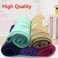 Knitting Wool Cotton Baby Blankets For Newborn Swaddle Wrap Baby Bedding Soft Breathable 13 Candy Colors