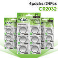 YCDC 3V Lithium Button Coin Cells Batteries 24X CR2032 DL2032 KCR2032 5004LC ECR2032 3V Coin Cell Battery Controller