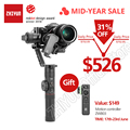 ZHIYUN Crane 2 карданный 3-осевой стабилизатор для всех моделей DSLR Камера Canon 5D2/3/4 с сервоприводом для непрерывного изменения фокусировки камеры