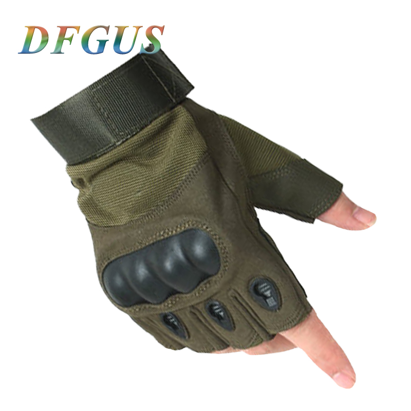 2018 New Tactical Fingerless Gloves Military Army Shooting Bicycle Paintball Airsoft Carbon Hard Knuckle Half Finger Gloves