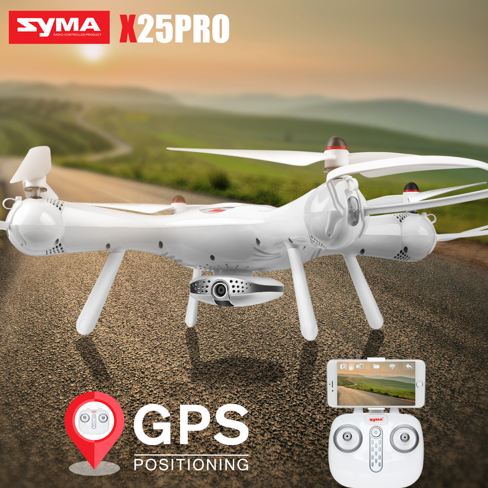 SYMA X25PRO Drone with Camera 720P FPV Wifi Quadcopter GPS Altitude Hold 4CH Remote Control RC Dron Helicopter