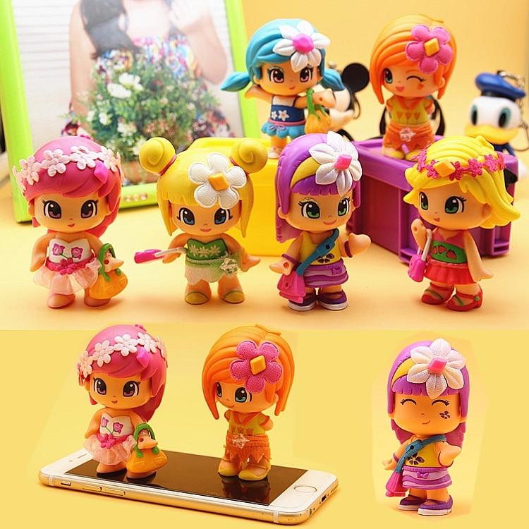 Promotion 1-2 pcs/lot original cute Pinypon dolls Detachable Kids doubleface Action Toy Figures Dolls the best Gifts Random
