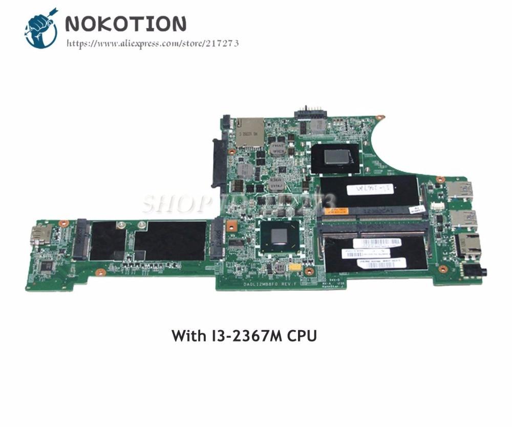 NOKOTION For Lenovo Thinkpad X131E Laptop Motherboard I3-2367U CPU DDR3 04W3645 DA0LI2MB8F0 MAIN BOARDNOKOTION For Lenovo Thinkpad X131E Laptop Motherboard I3-2367U CPU DDR3 04W3645 DA0LI2MB8F0 MAIN BOARD
