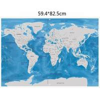 Travel Map Travel World Scratch Map Ocean Edition Scratch Off Coating DIY Wall Stickers Home Decoration