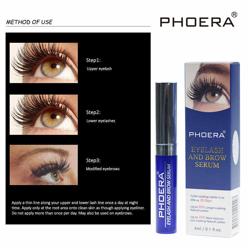 173a8b242fb ... PHOERA Liquid Eyelash and Brow Serum Lengthening Extension Eyelash Grow  Longer Thicker Stimulator Growth Enhancer TSLM2 ...