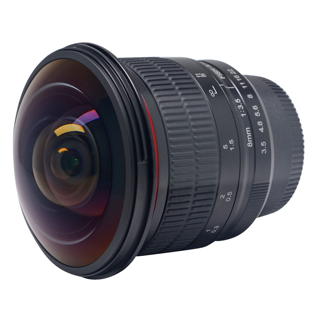 Meike 8mm F/3.5 Ultra HD Fisheye Lens for Nikon DSLR,Fixed-Non-Zoom Lens