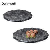 Melamine Grill Tray Chilly Pot Snack Pastry Small Pork Serving Container Platter Dinnerware Cutlery Kitchen Tool