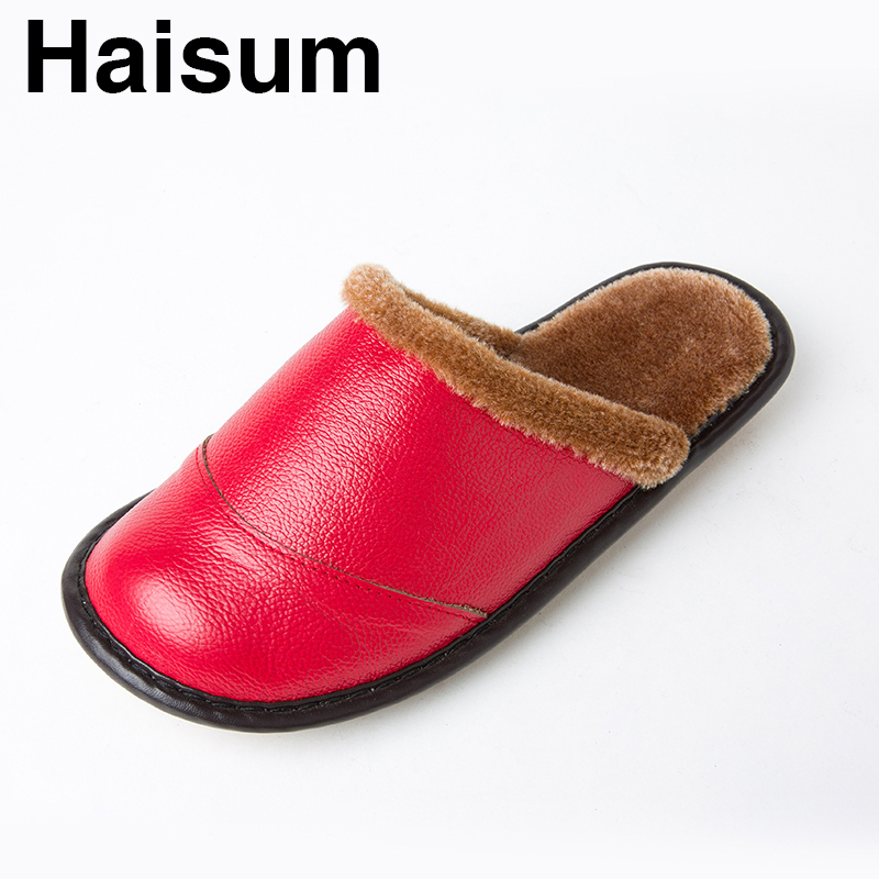 Woman Slippers Bedroom Parlor Office Apartment Slippers Winter Soft Soft Non-slip Leather Slippers YJ-002 201818 woman slippers caf