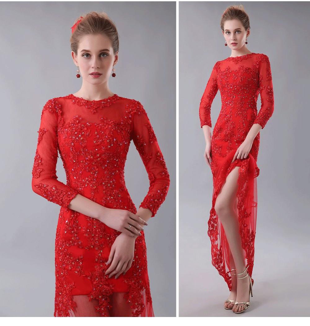 1d29ff9a0 שמלות לנשף - Prom Graduation Dresses Black Lace Appliques with Beads ...