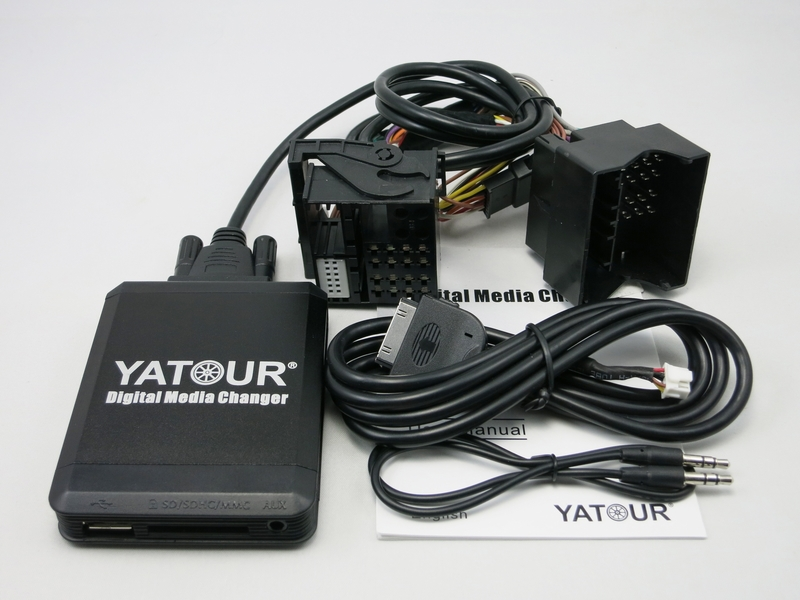 Yatour YTM07 Music Digital CD changer USB SD AUX Bluetooth  ipod iphone  interface for new Ford quadlock Fakra 12 pin Adapter yatour ytm07 music digital cd changer usb sd aux bluetooth ipod iphone interface for volvo hu xxx radios mp3 integration kit