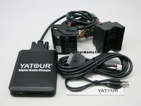 Yatour YTM07 Music Digital CD changer USB SD AUX Bluetooth ipod iphone interface for new Ford quadlock Fakra 12 pin Adapter