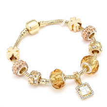 CUTEECO Fashion Crystal Lucky Charm Bracelets & Bangles Gold Brand for Women Friendship Jewelry Pulseira Feminina