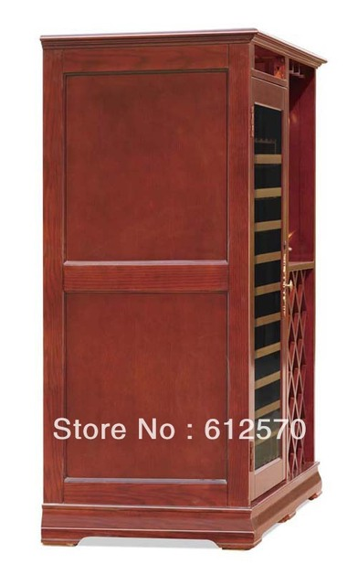 New Arrival Oak Wooden Wine Cellar Cabinet Furniture Compressor Cooling Climate Cave Digital Control Temp