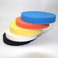 7inch Blue White Yellow Black Orange Buff Polishing Pad For Car Polisher DIY SET