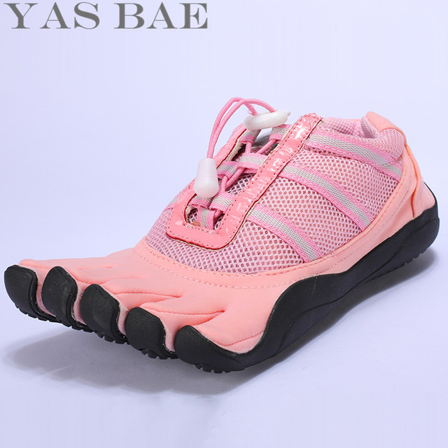 Big Size 45 44 Sale Yas Bae Design Rubber with Five Fingers Outdoor Slip Resistant Breathable Light Weight Sneakers For Women