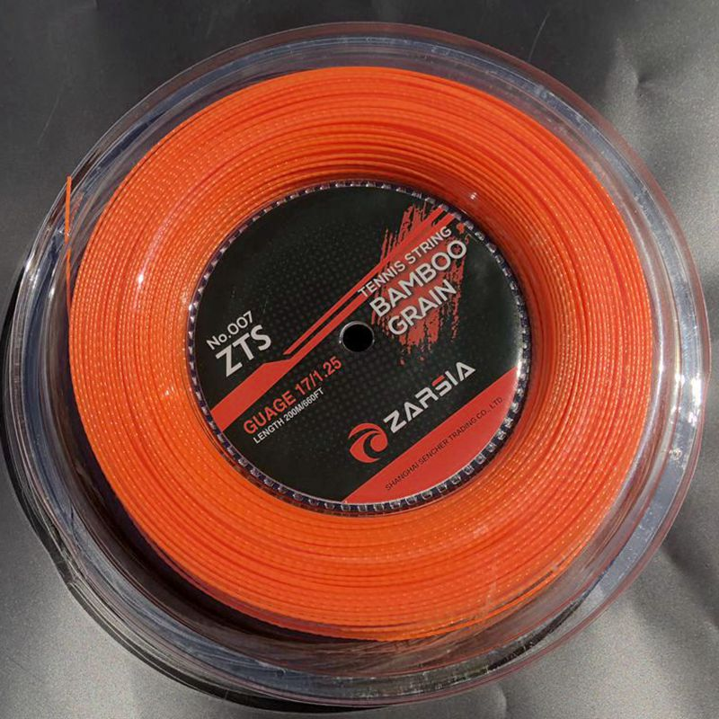 1 Reel 200M ALPHA Bamboo Tennis String Polyester Tennis Rackets String Durable Tennis String 1.25mm