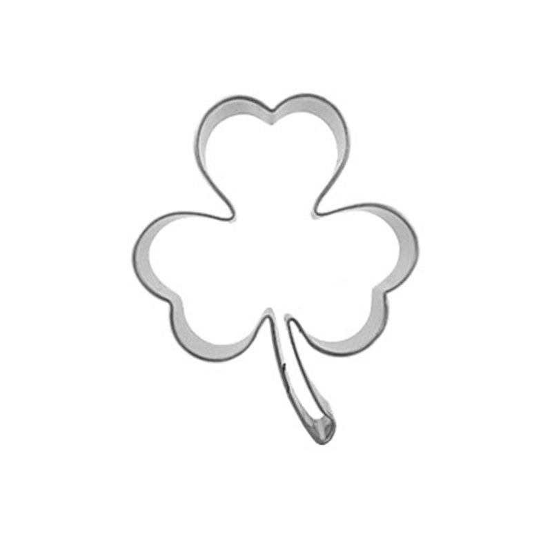 Edible Cake Decorations Clover Shape Pancake Cookie Cutter Pressing Baking Tools Stainless Steel Chinese Market Online Fondant