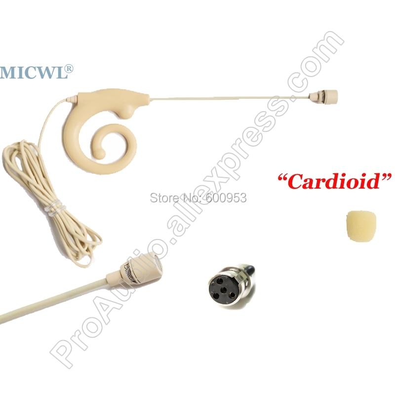 MICWL T70 micro casque sans fil micro pour Shure Bodypack émetteur cardioïde-directivité capsule TA4F XLR 4pin plug