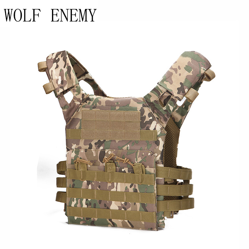 1000D Tactical Military Molle Plate Carrier JPC Vest Airsoft Paintball Hunting Police Outdoor Vest 2018 voodoo tactical sog airsoft paintball bulletproof vest plate carrier multicam plate carrier voodoo colete a prova de bala
