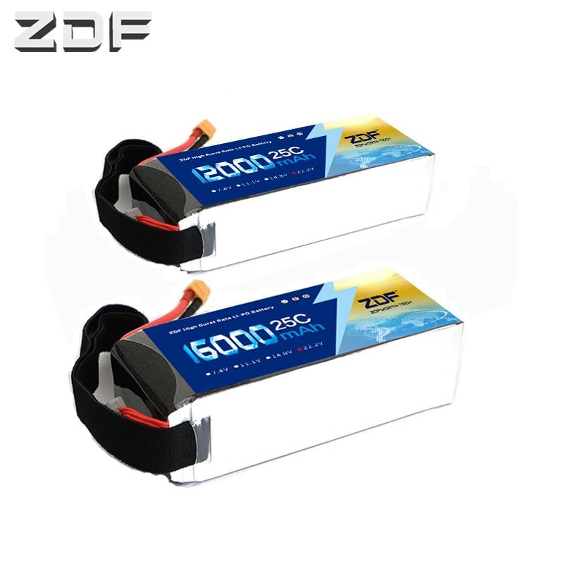 ZDF 22.2v 6S 12000mah16000mAh 25C max 50C lipo battery for Quadcopter Airplanes RC Parts AKKU