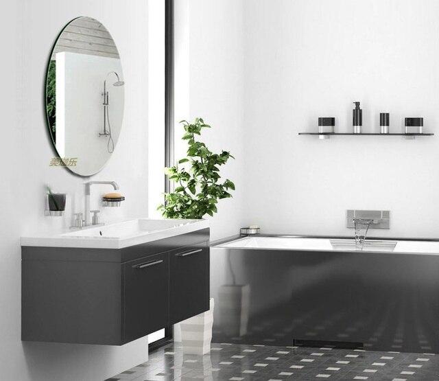 Frameless High Definition Bathroom Mirror Bathroom Mirror Vanity Mirror  Bathroom Mirror Wall Simple Fashion Oval Rimless