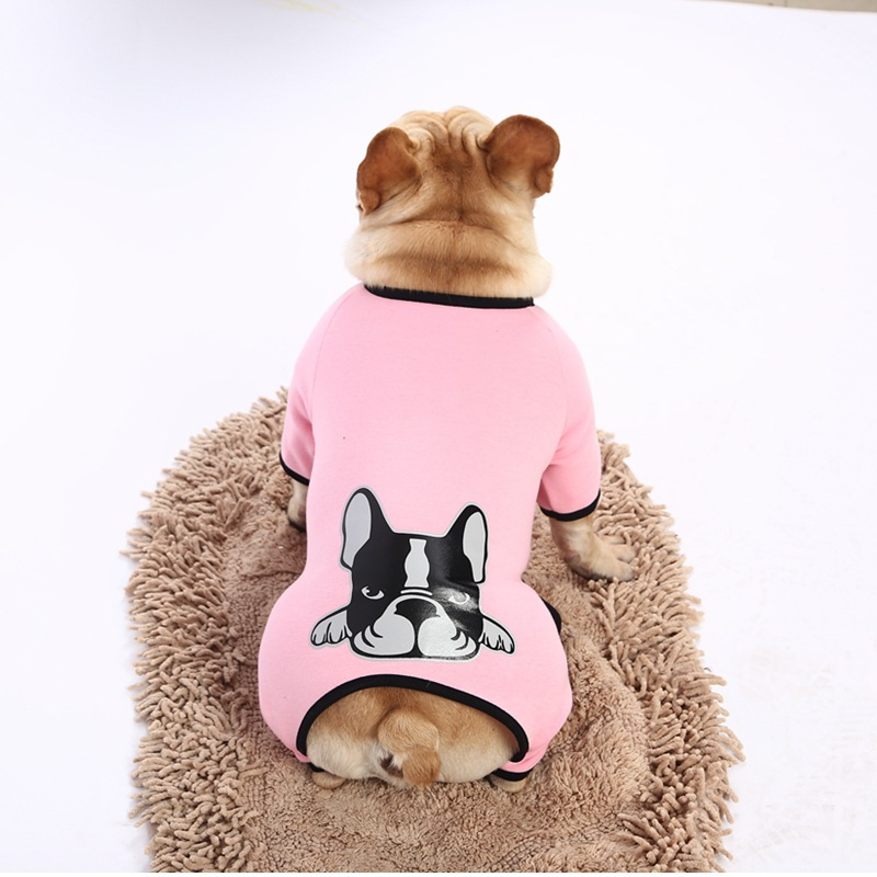 French Bulldog Cute Jumpsuit Dog Clothes for Small Dogs