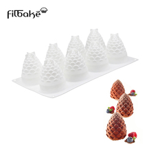 FILBAKE  Mousse Model 8 Cavity Pine Nuts Pattern DIY Baking Mold Silica Gel Candy Cake Of Silicone Deacorating Tools