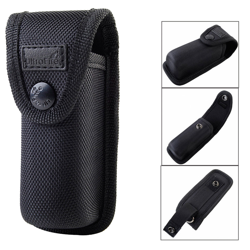 Tactical Flashlight Holster Molle Pouch Outdoor Hunting Hiking Portable Electronic Torch Holster Cover Case For Belt BK