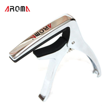 Aroma Acoustic Electric Guitars Unique Versatile Capo Capodaster Guitar Ukulele Capo Daster Chrome Metal Alloy Pin AC21