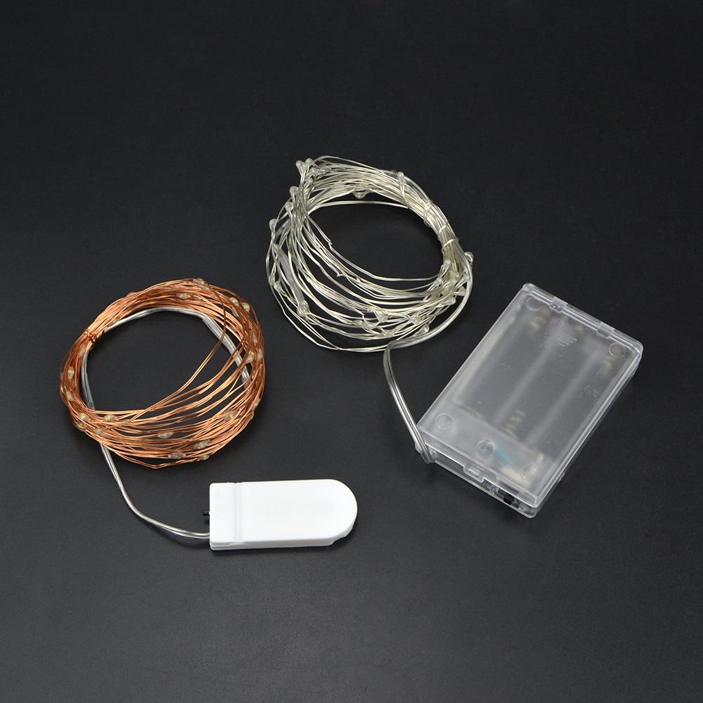 2M 5M Copper Wire LED Holiday light LED Strip String lighting ...