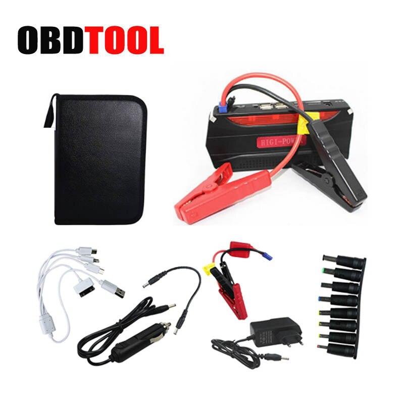 Sac de luxe 68800 mAh D'urgence Booster Portable Auto Saut Puissance Batterie chargeur pour 12 V Essence et Diesel De Voiture Avec 4 USB JC10